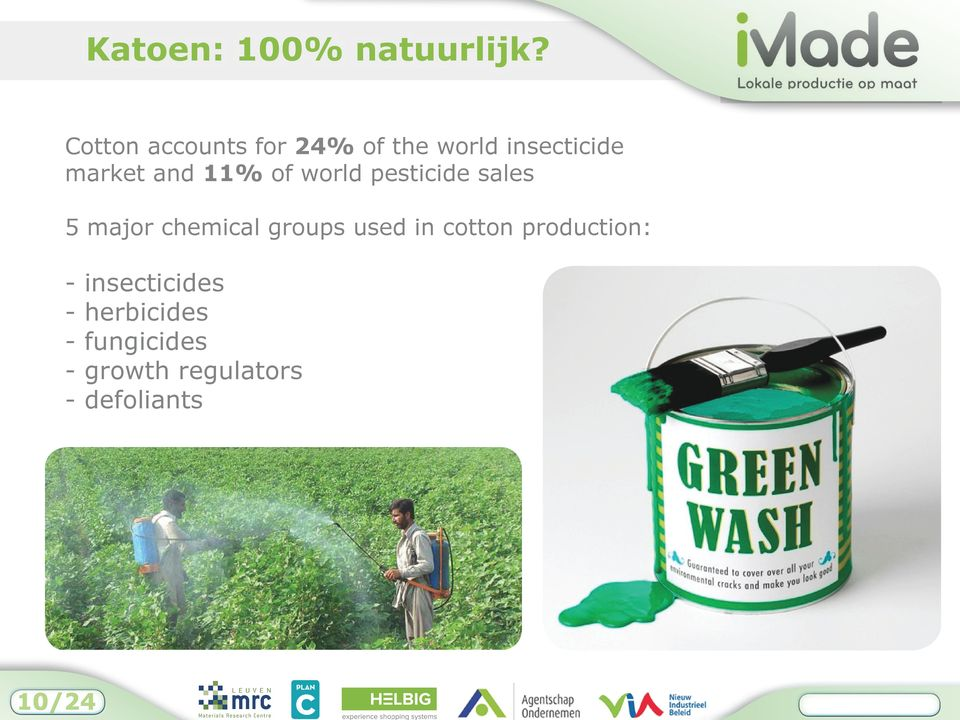11% of world pesticide sales 5 major chemical groups used in