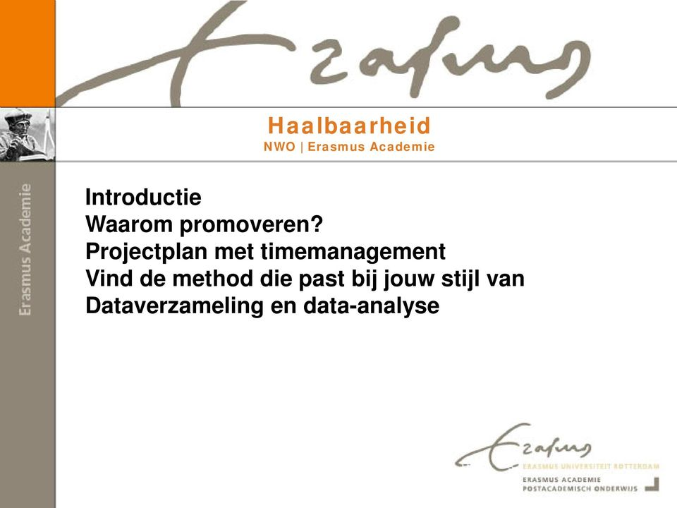 Projectplan met timemanagement Vind de