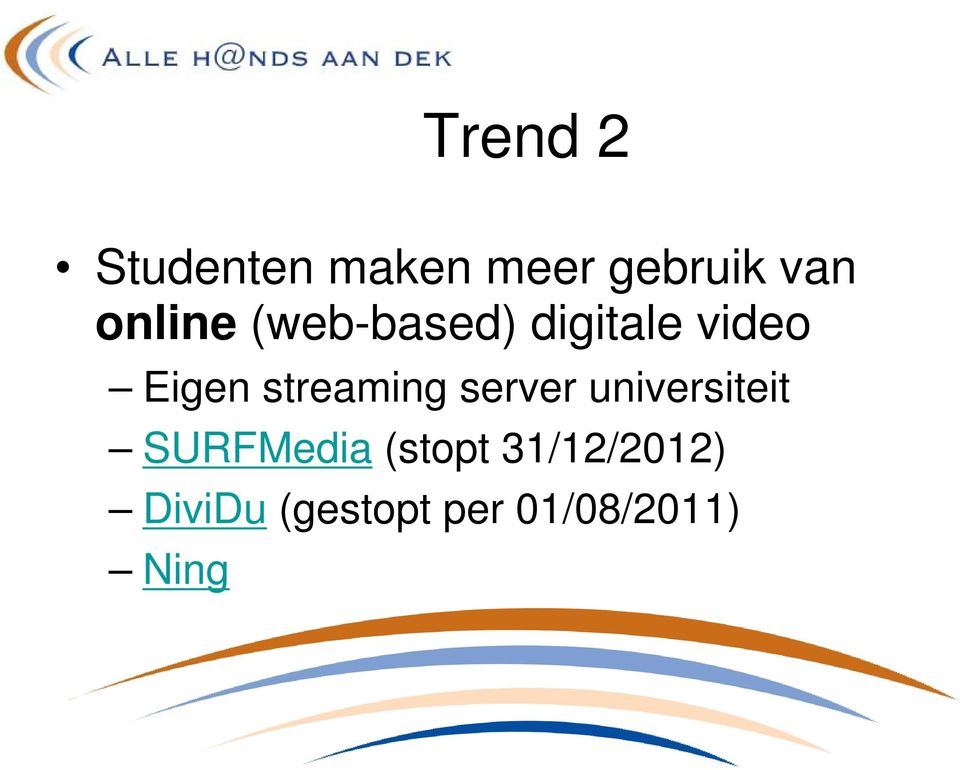 streaming server universiteit SURFMedia
