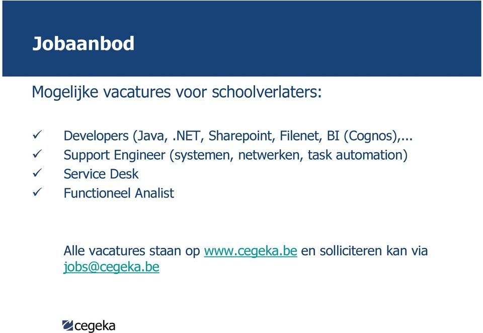 .. Support Engineer (systemen, netwerken, task automation) Service