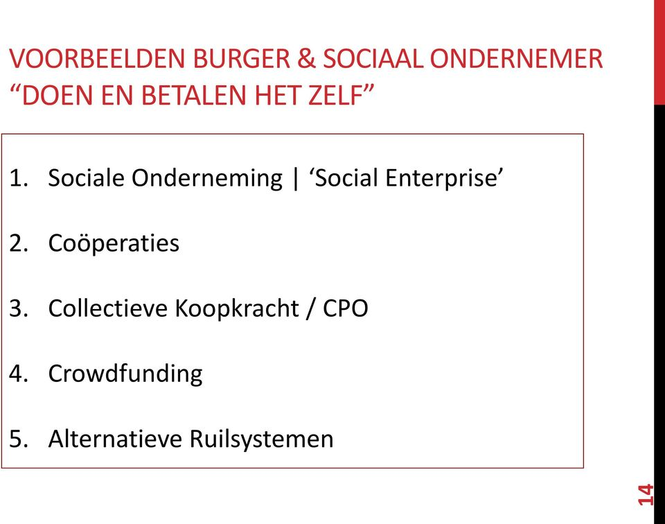 Sociale Onderneming Social Enterprise 2.