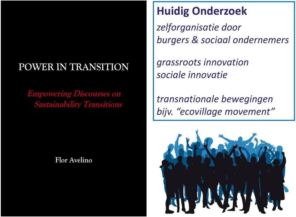 Sustainability Transitions grassroots innovation sociale