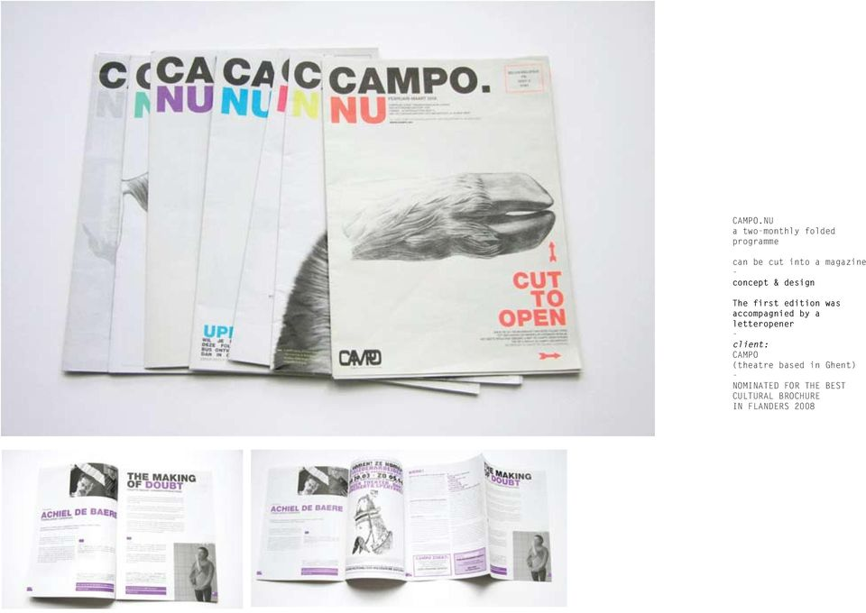 a magazine concept & design The first edition was