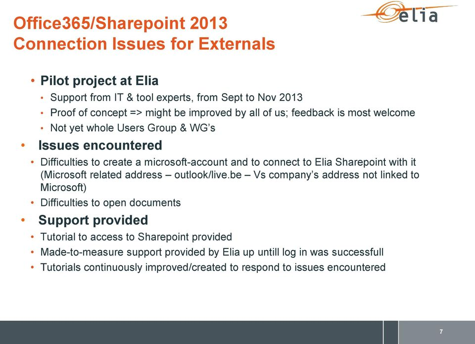 Sharepoint with it (Microsoft related address outlook/live.