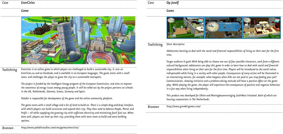 The game starts with a small town, and challenges the player to grow the city to a sustainable metropolis.