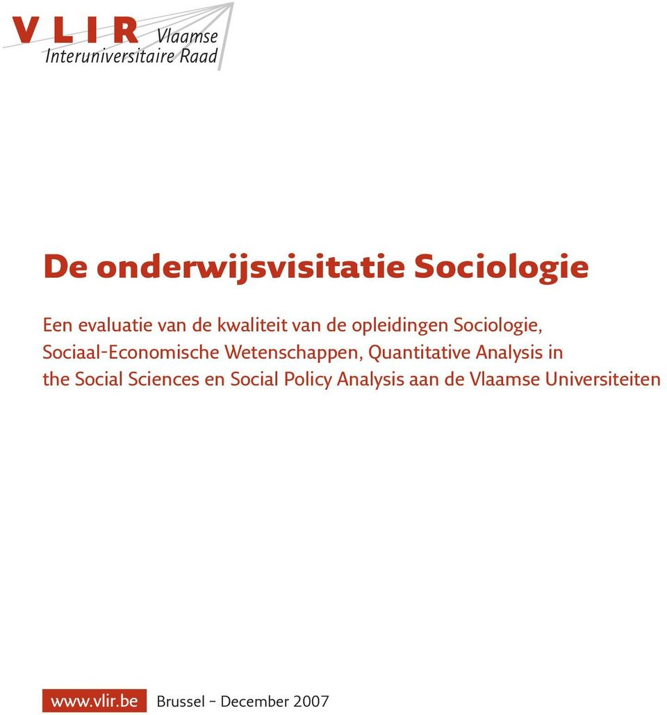 Quantitative Analysis in the Social Sciences en Social Policy