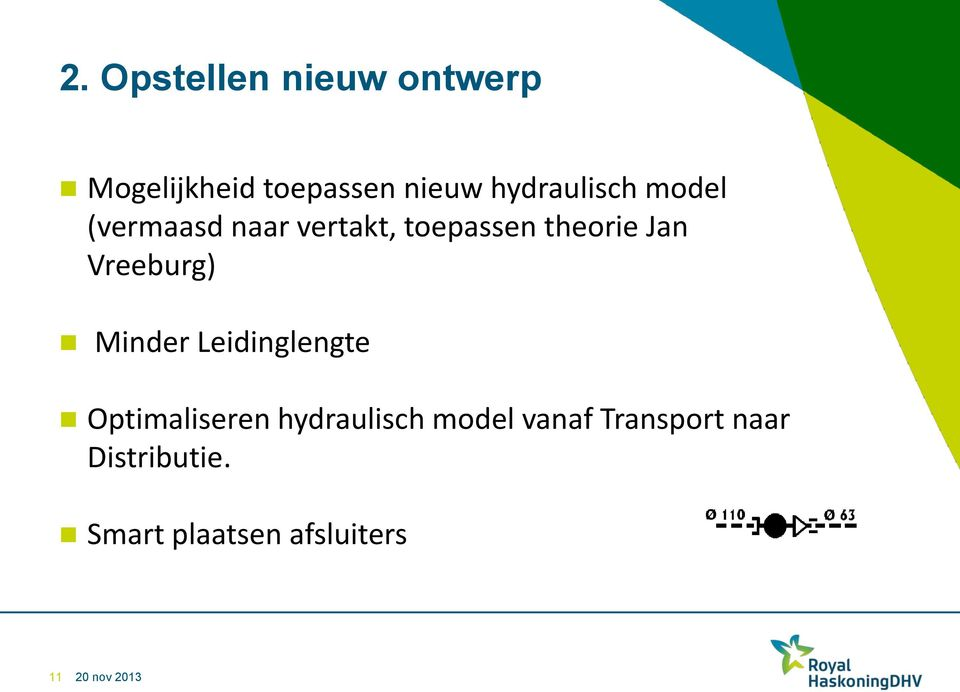 Jan Vreeburg) Minder Leidinglengte Optimaliseren hydraulisch