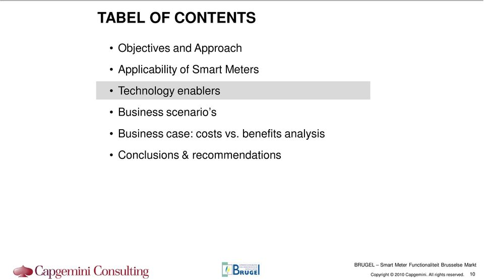 enablers Business scenario s Business case:
