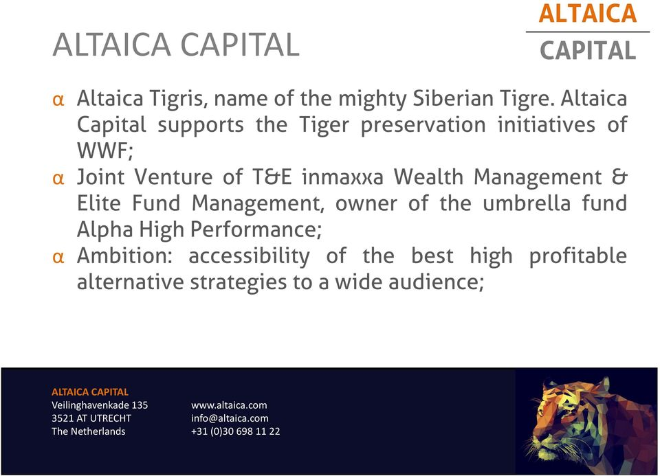 of T&E inmaxxa Wealth Management & Elite Fund Management, owner of the umbrella fund