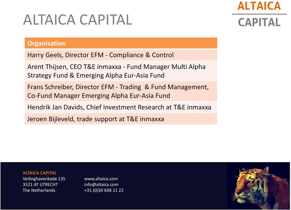 Director EFM -Trading & Fund Management, Co-Fund Manager Emerging Alpha Eur-Asia Fund Hendrik