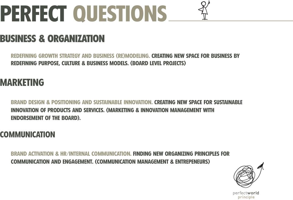 (BOARD LEVEL PROJECTS) MARKETING BRAND DESIGN & POSITIONING AND SUSTAINABLE INNOVATION.