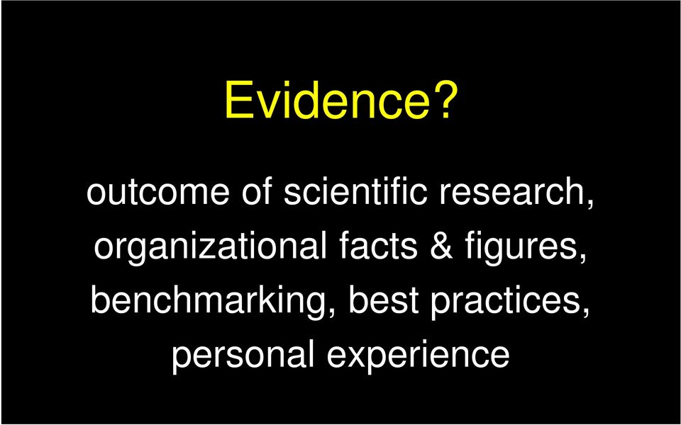 research, organizational facts