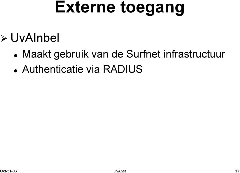 infrastructuur Authenticatie