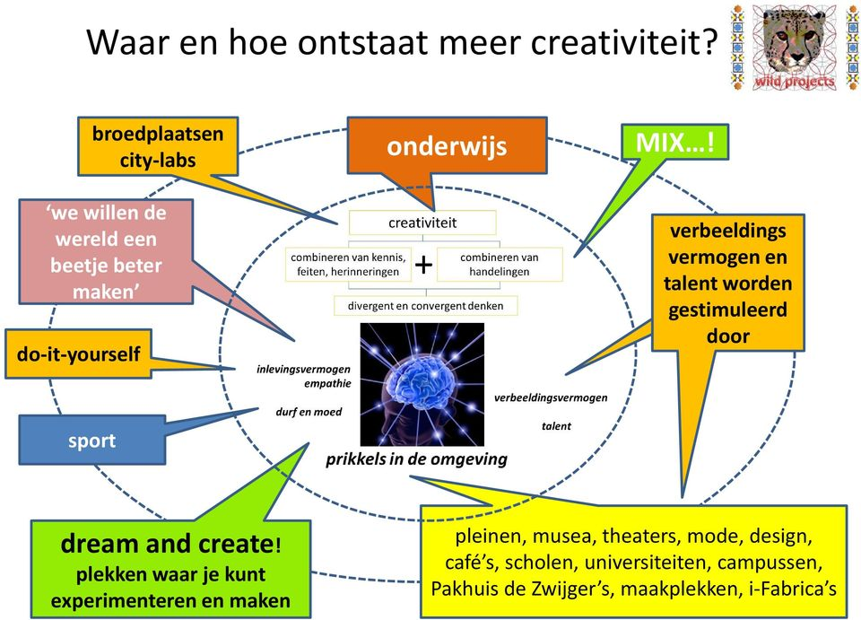 verbeeldings vermogen en talent worden gestimuleerd door sport dream and create!