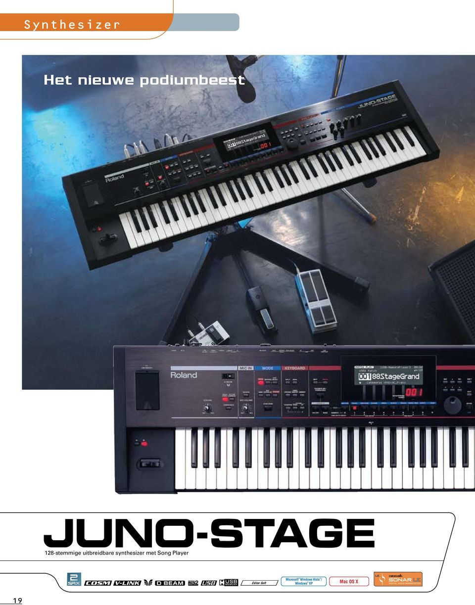 synthesizer met Song Player Editor