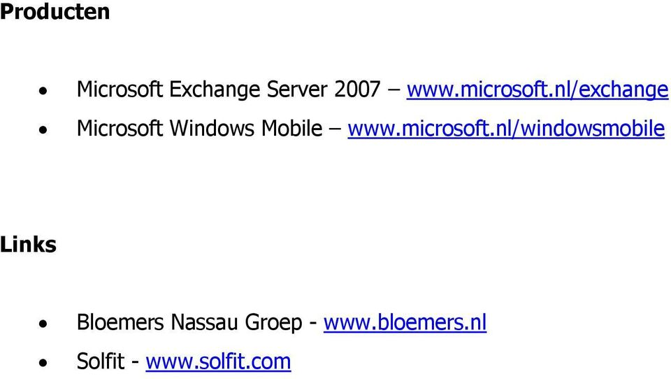 nl/exchange Microsoft Windows Mobile www.