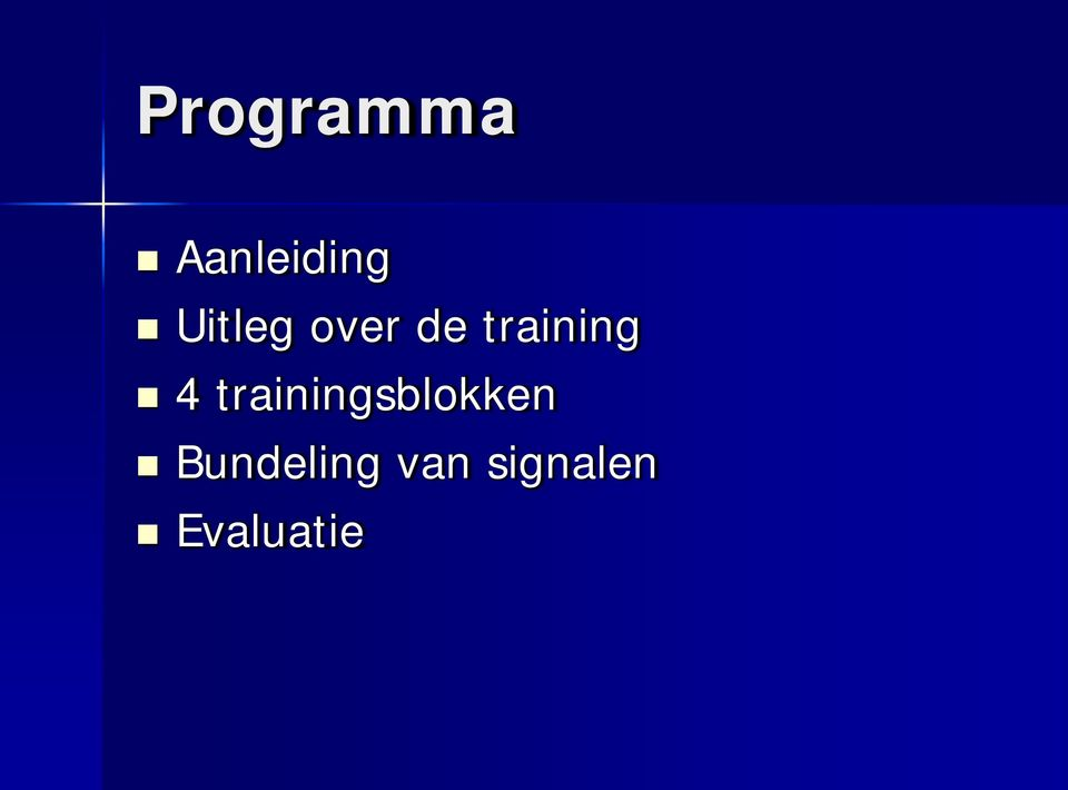 4 trainingsblokken