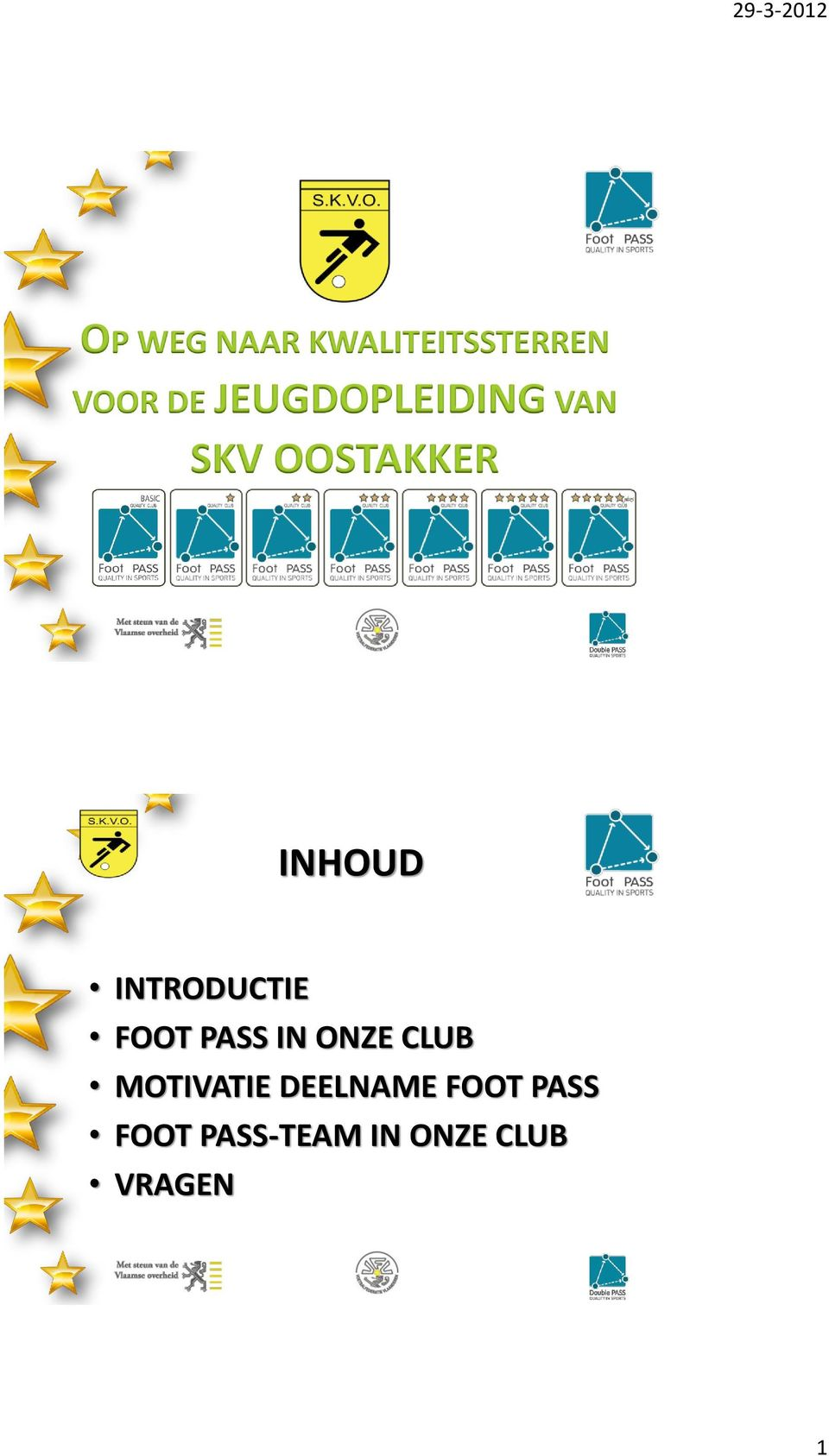 INTRODUCTIE FOOT PASS IN ONZE CLUB MOTIVATIE