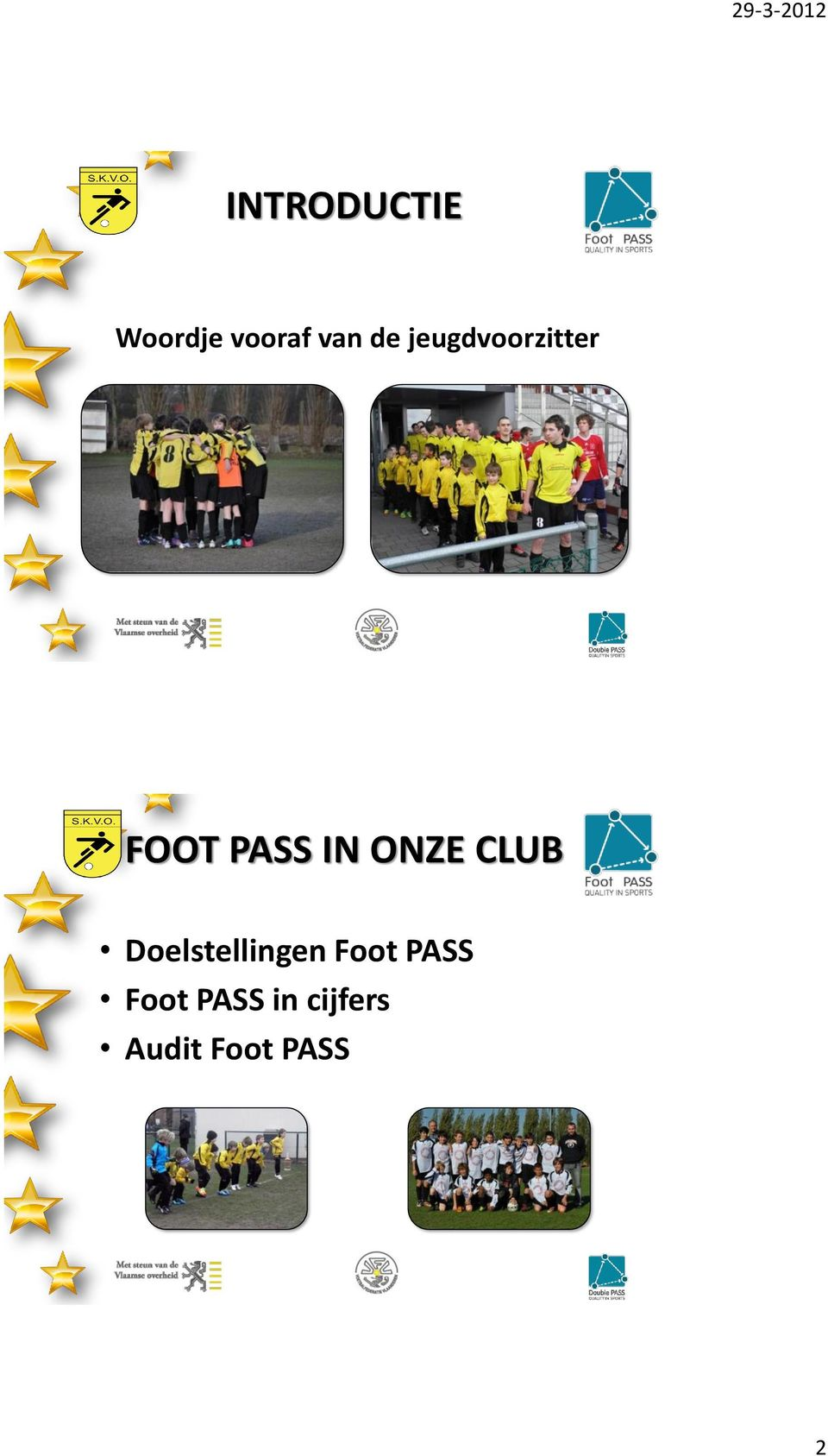 CLUB Doelstellingen Foot PASS