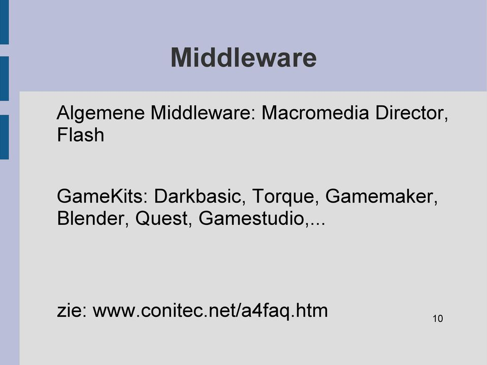 Darkbasic, Torque, Gamemaker, Blender,