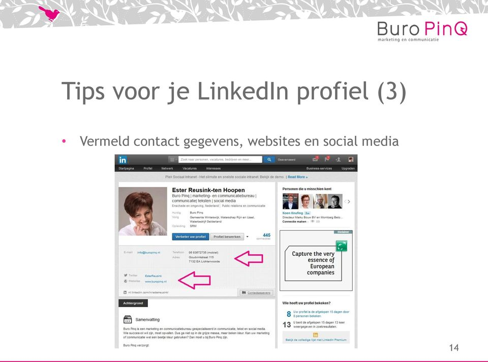 contact gegevens,