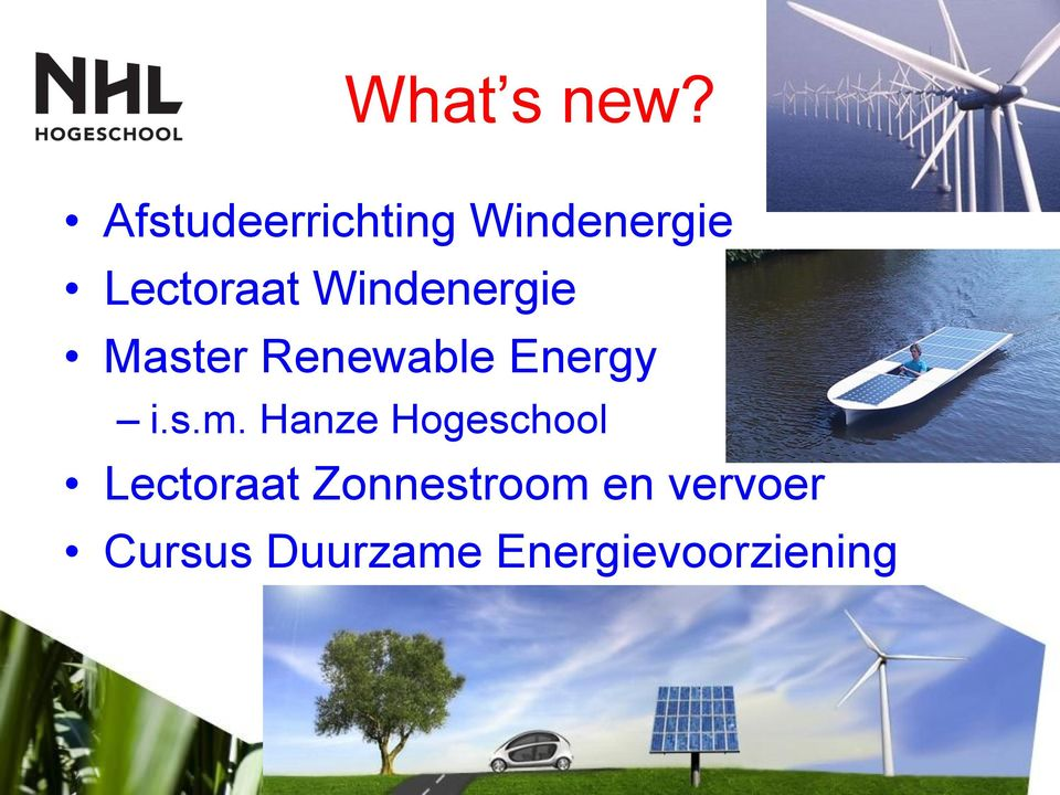 Windenergie Master Renewable Energy i.s.m.