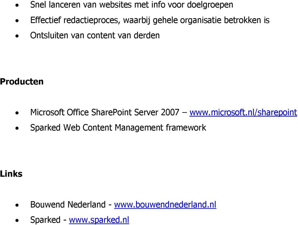 Office SharePoint Server 2007 www.microsoft.