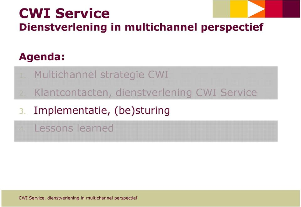 Multichannel strategie CWI 2.