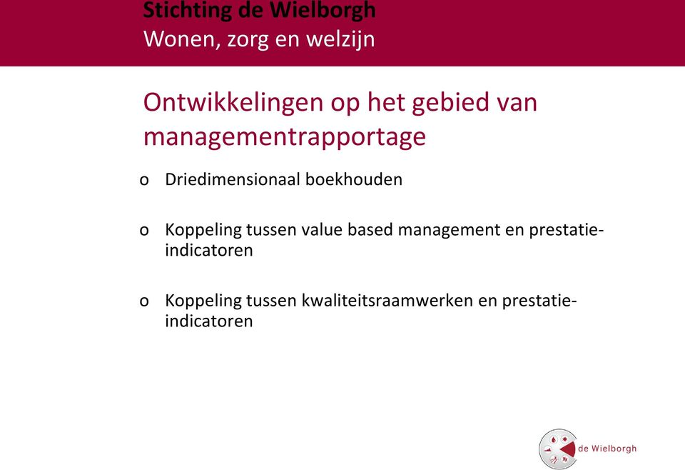 Kppeling tussen value based management en