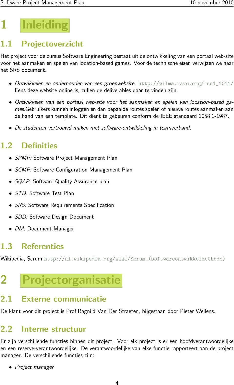 sdd template ieee - software project management plan pdf
