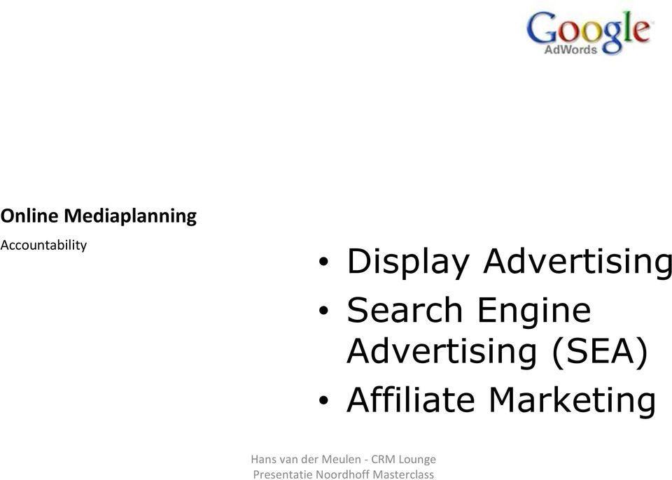 Advertising Search Engine