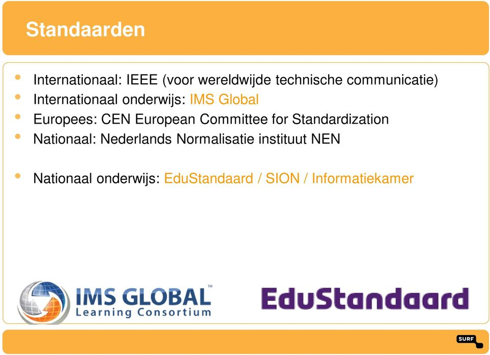 European Committee for Standardization Nationaal: Nederlands