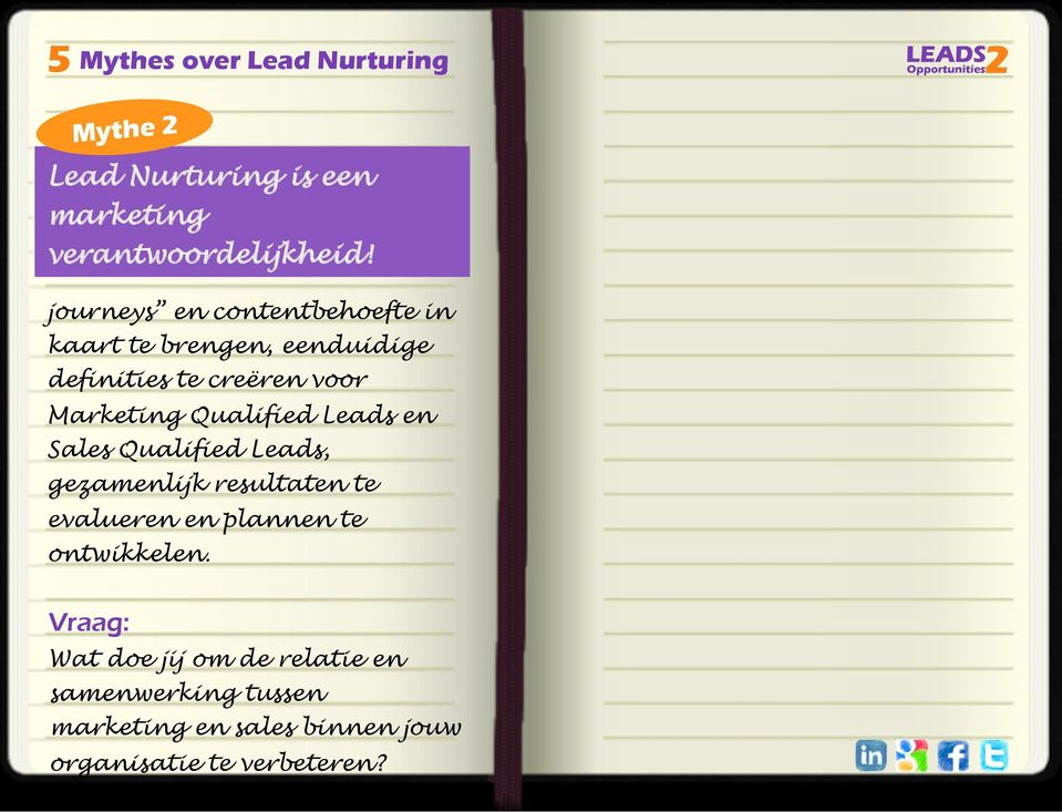 Marketing Qualified Leads en Sales Qualified Leads, gezamenlijk resultaten te evalueren en