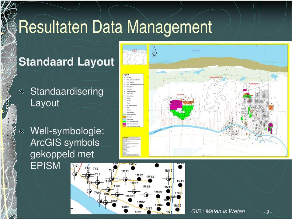 Layout Well-symbologie: ArcGIS