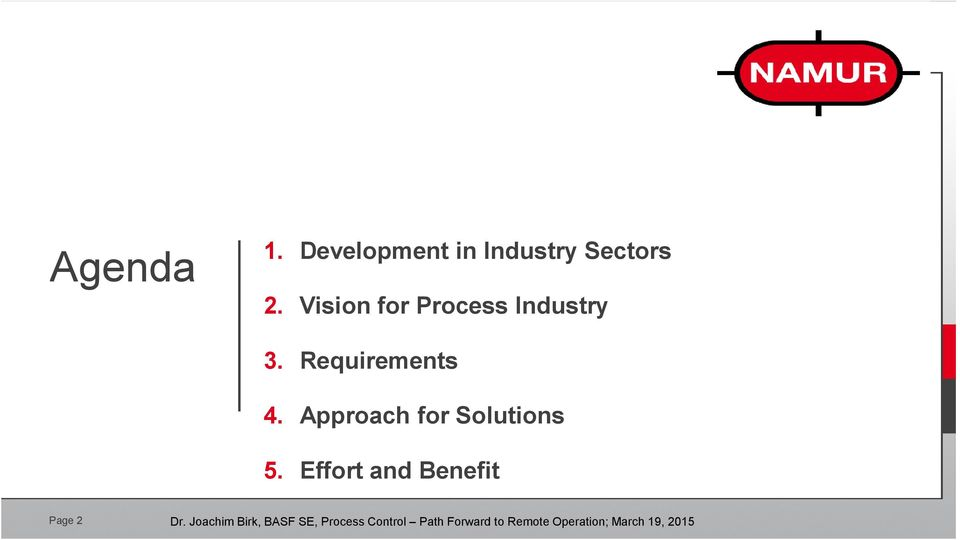 Vision for Process Industry 3.