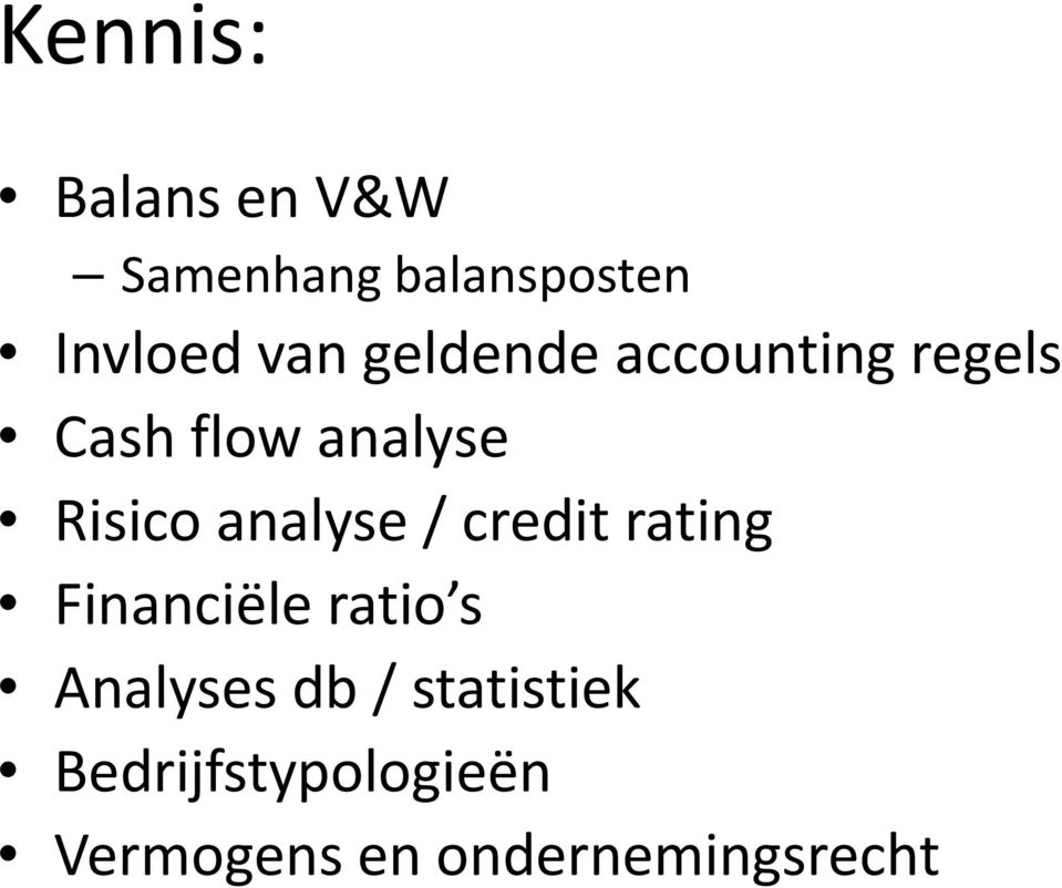 analyse / credit rating Financiële ratio s Analyses db/