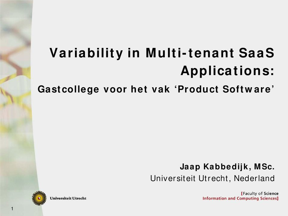 vak Product Software Jaap