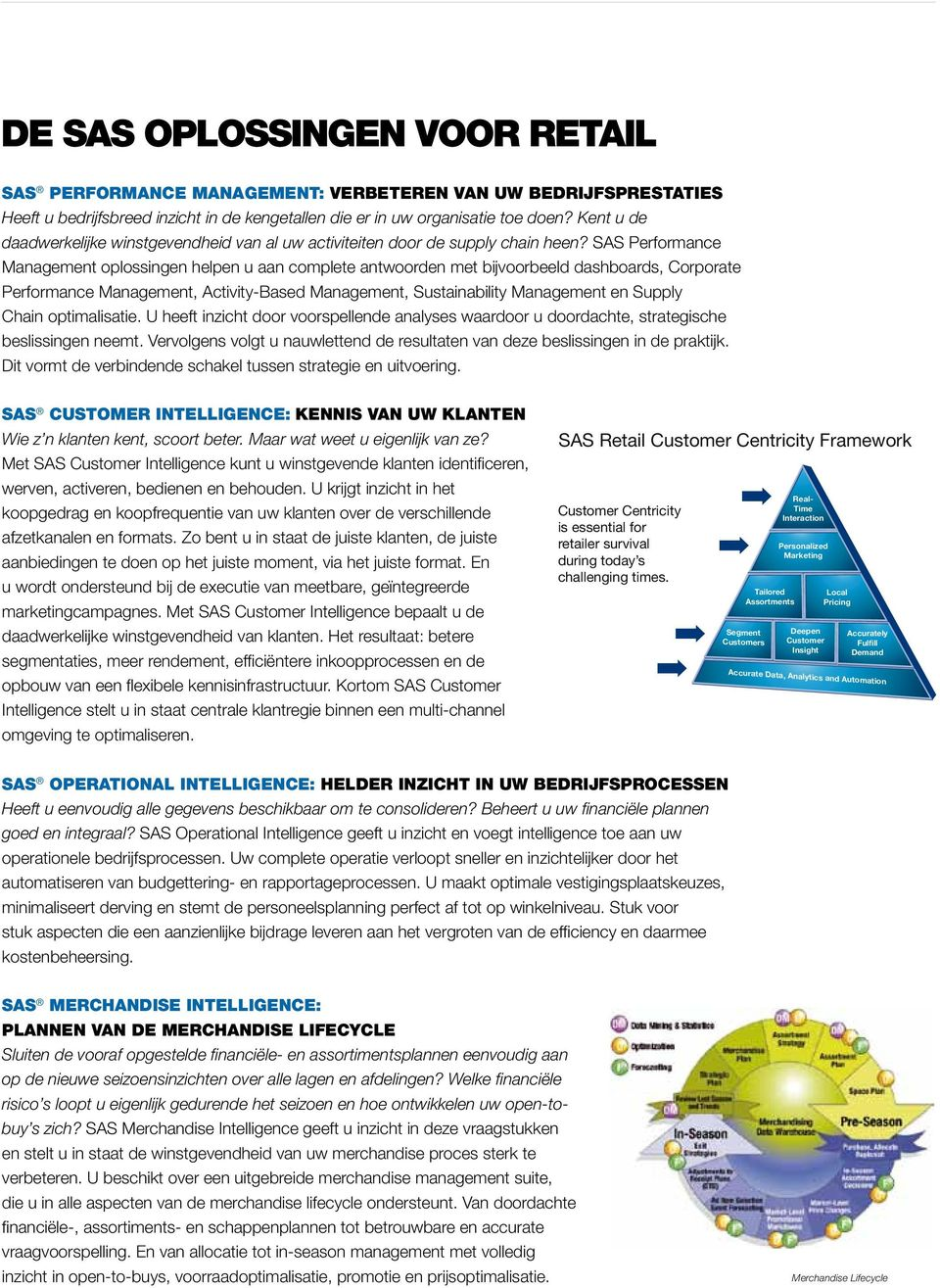 SAS Performance Management oplossingen helpen u aan complete antwoorden met bijvoorbeeld dashboards, Corporate Performance Management, Activity-Based Management, Sustainability Management en Supply
