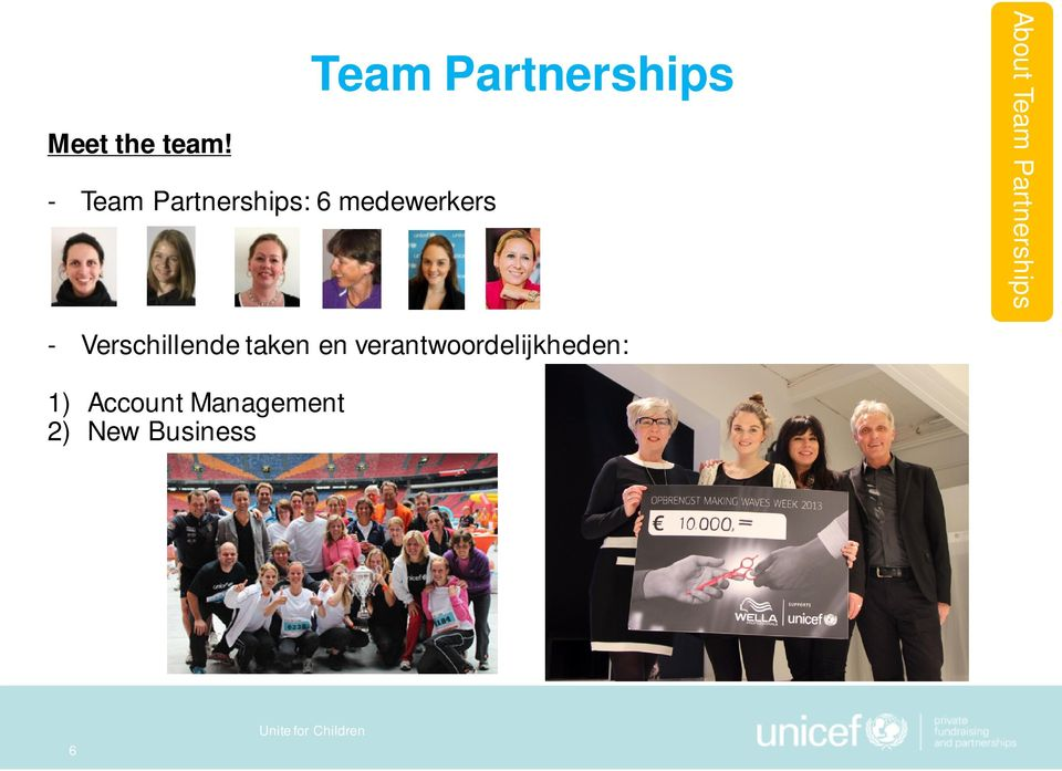 Partnerships About Team Partnerships -