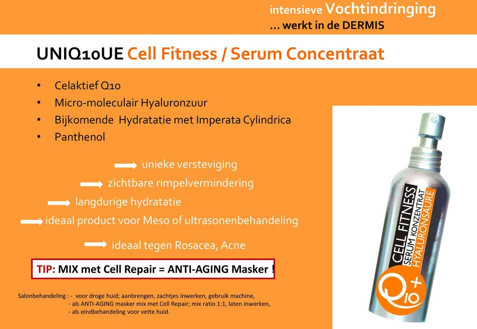 Acne TIP: MIX met Cell Repair = ANTI-AGING Masker! intensieve Vochtindringing.