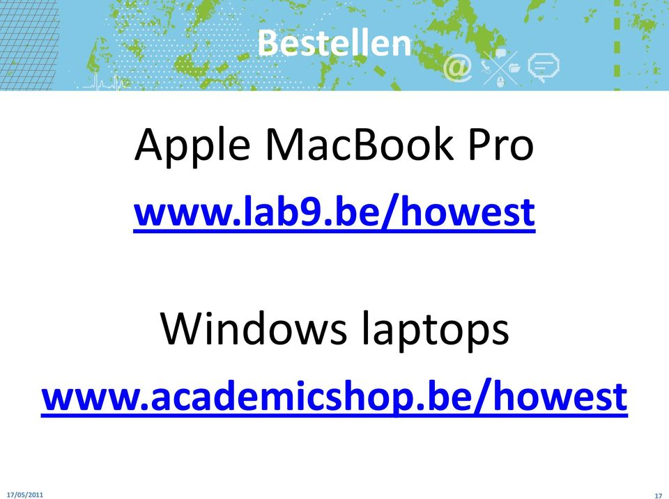 be/howest Windows laptops