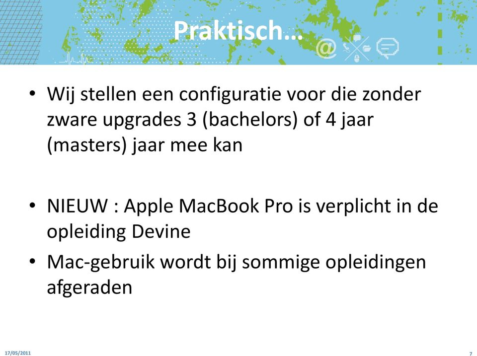 NIEUW : Apple MacBook Pro is verplicht in de opleiding