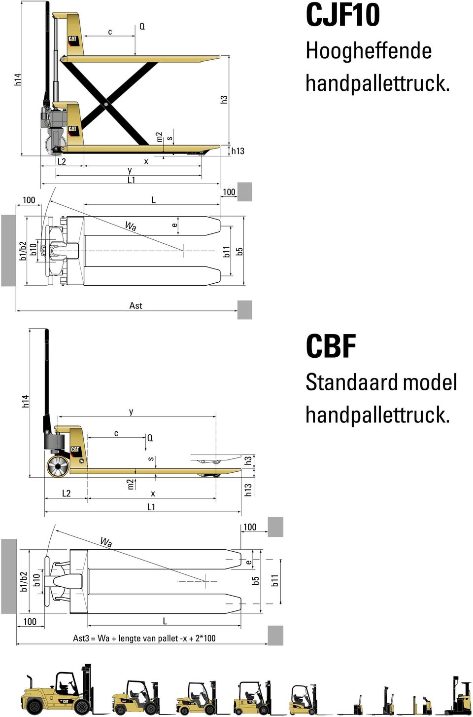 y Q CBF Standaard model handpallettruck.
