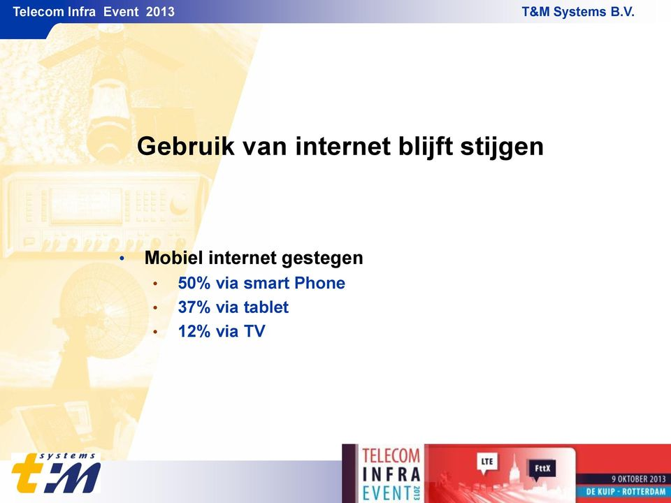 internet gestegen 50% via