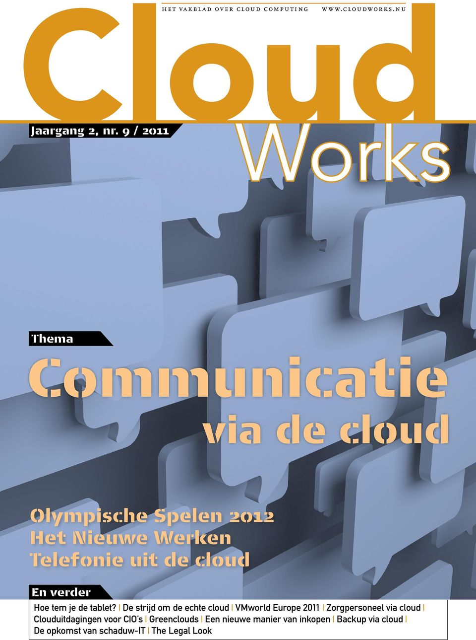 De strijd om de echte cloud VMworld Europe 2011 Zorgpersoneel via cloud