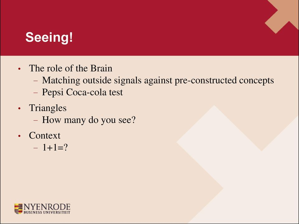 signals against pre-constructed