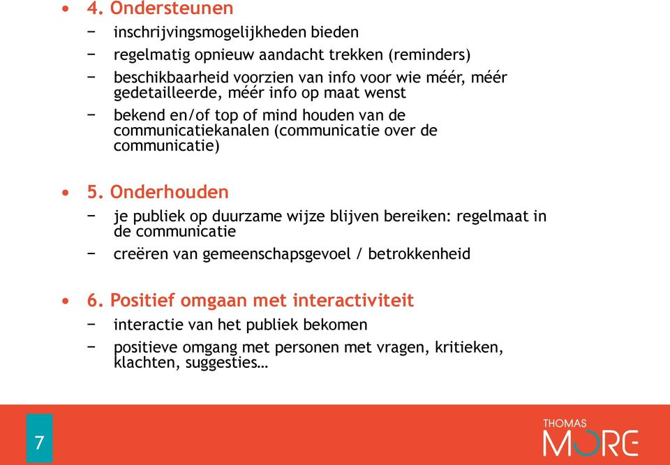 communicatie) 5.