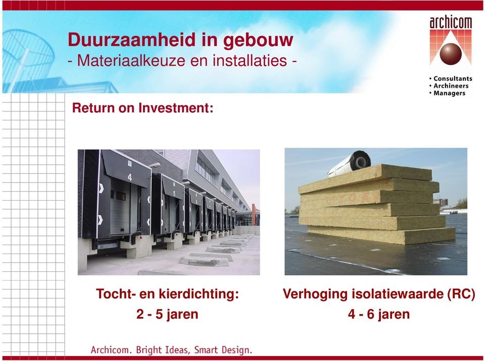 Return on Investment: Tocht- en