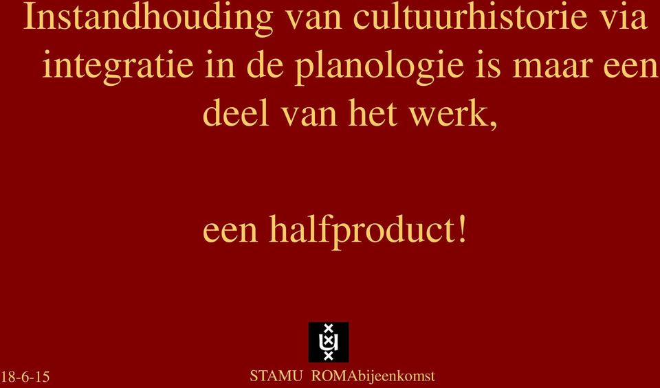 integratie in de planologie