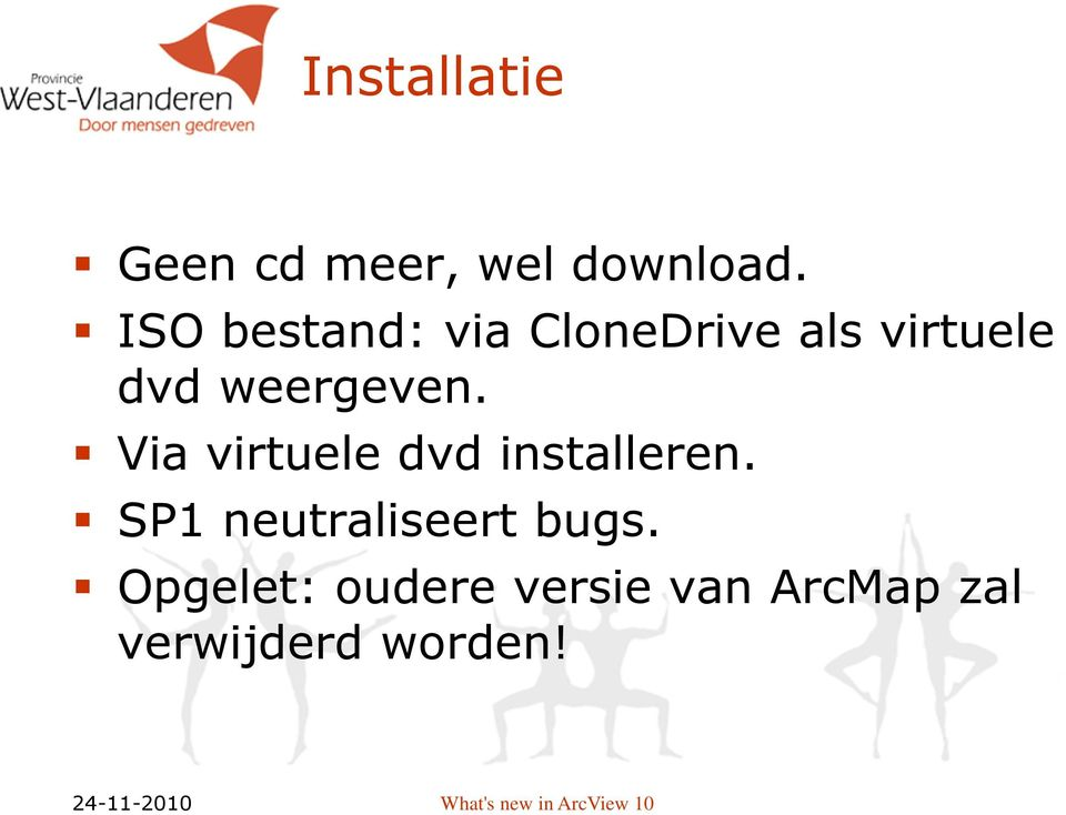 weergeven. Via virtuele dvd installeren.